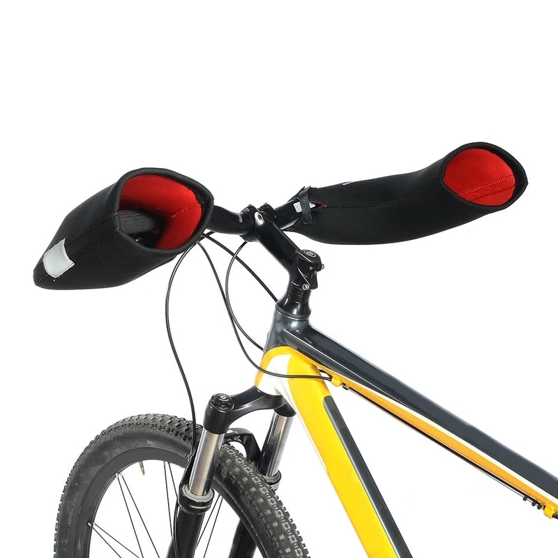13%Neoprene Rainproof Bicycle Handlebar Gloves Winter Road MTB Motor Cycling Handlebar Bar End Mittens Mitts Gloves Hands Warmer