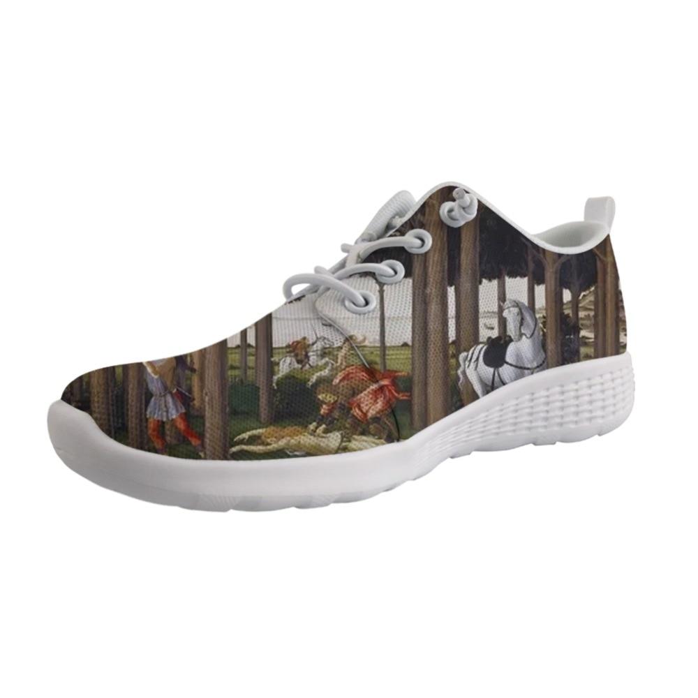 Nuevos zapatos personalizables con agujeros para hombre, zapatillas con cordones para hombre, zapatos ligeros para niño, pintura artística de Cristo, Sandro Botticelli