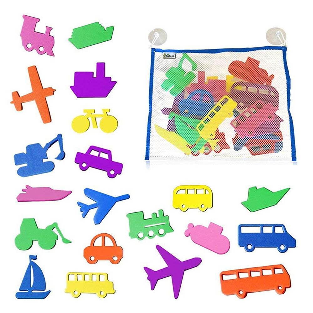 20 шт., для ванной, настенный пластырь, для автомобиля, для лодки, летние детские игрушки для ванной, для детей, для плавания, EVA, игрушка-пазл для малышей, наклейки для купания