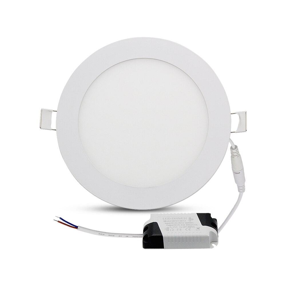 LED Downlight z sterownik 3 W 6 W 9 W 12 W 15 W 18 W lampa aluminiowa oprawa sufitowa do wbudowania ampułki żarówka AC 85-265 V Panel światło punktowe Lamparas