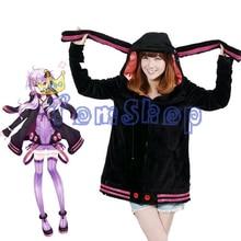 Vocaloid 3 Yuzuki Yukari Cosplay Oversized Hoodie Jacket Anime Costumes Hooded Zipper Warm Coat Size S M L Free Shipping