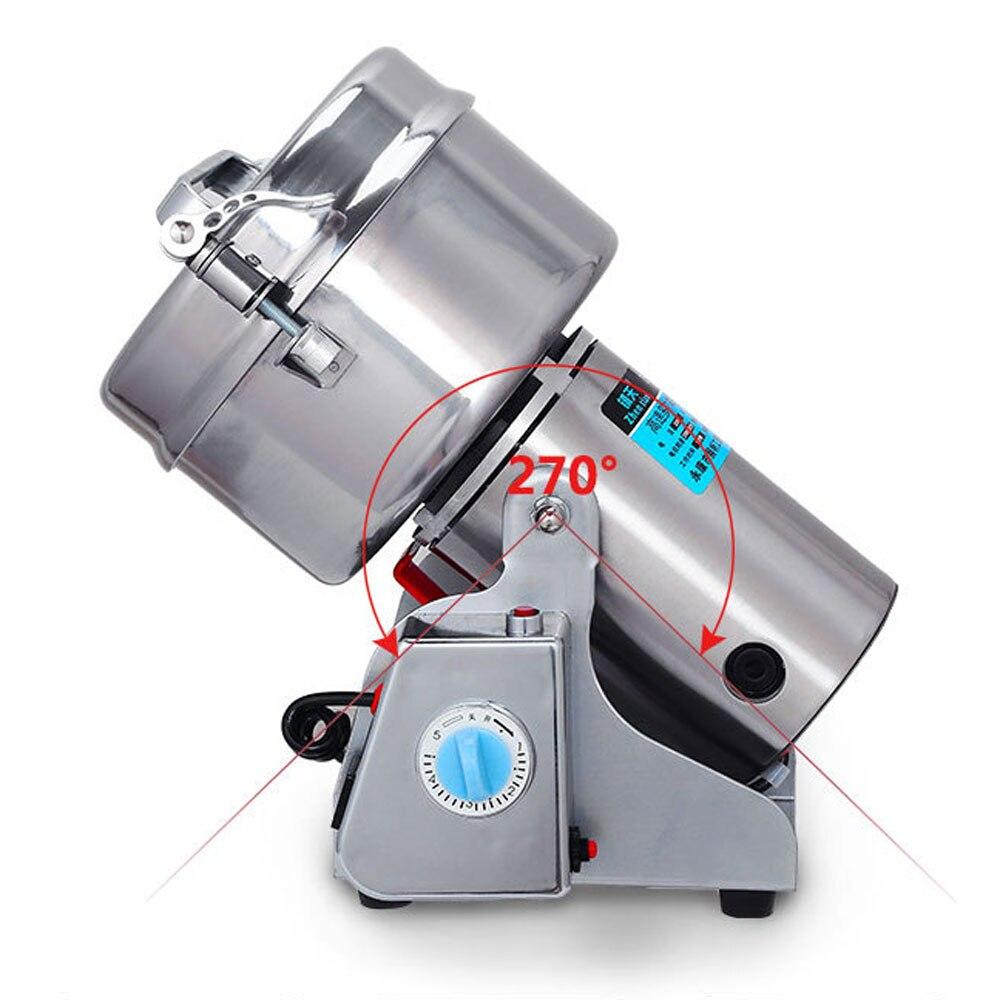 Amoladora portátil oscilante de 220V/110V, molino de harina de especias de 1000g, máquina de polvo de grano, molinillo de café pulverizador de coco Chaga
