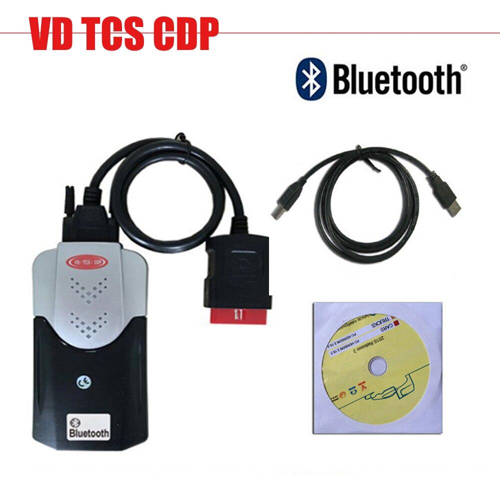 Met Bluetooth Nieuwe Vci Vd Tcs Cdp Pro Plus Voor Auto S Vrachtwagens 3in1 Met Keygen 2015.3 Software Obd2 Diagnostische Scan tool