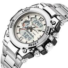 Stryve 8014/8018 hommes sport montres militaire 12/24 heure électronique horloge Quartz numérique en acier inoxydable montre horloges mannen