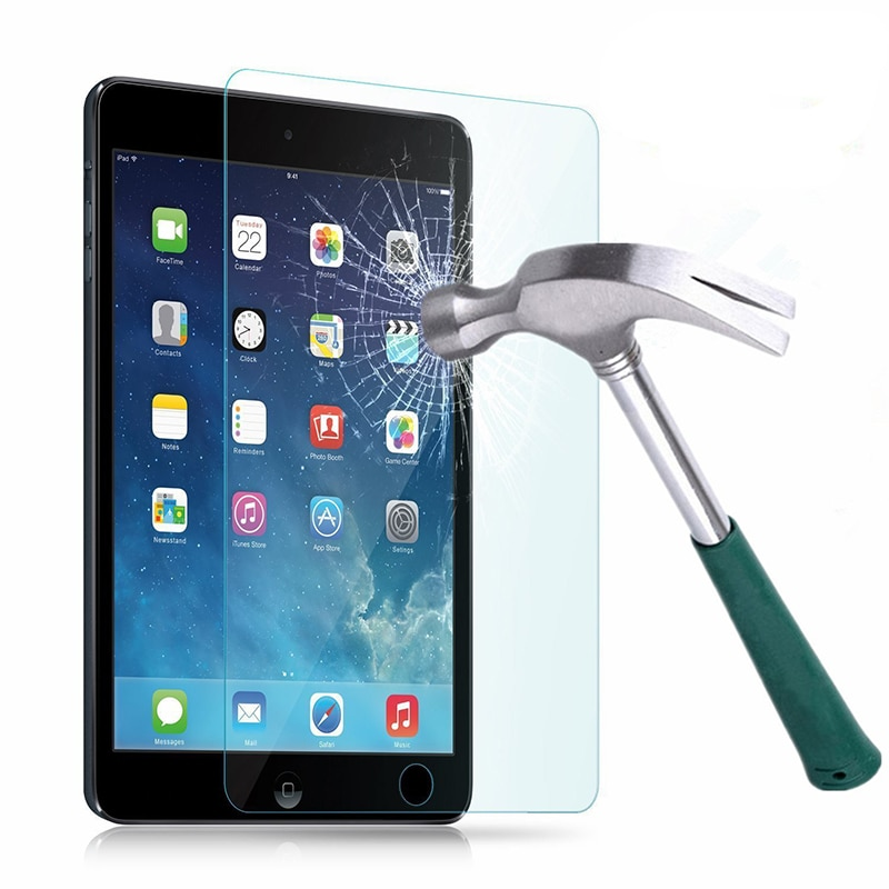 Protector de pantalla de vidrio templado funda de lujo para tabletas Funda de cuero PU para iPad Mini 1,2 y 3 de Apple I Pad Mini 7,9 pulgadas funda inteligente