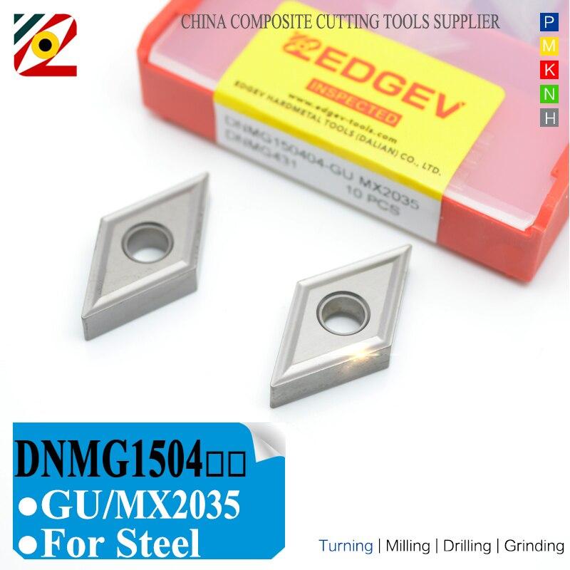 EDGEV Cermet Carbide Inserts DNMG150404/08-GU MX2035 CNC Lathe External Turning Tools For Substitue MU NX2525