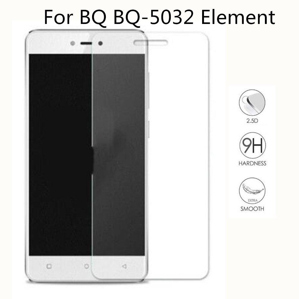 Nova Ultra-fino Novo Para BQ BQ-5032 Elemento 5032 Premium Vidro Temperado Protetor de Tela Frontal Limpar Protective Film Capa caso