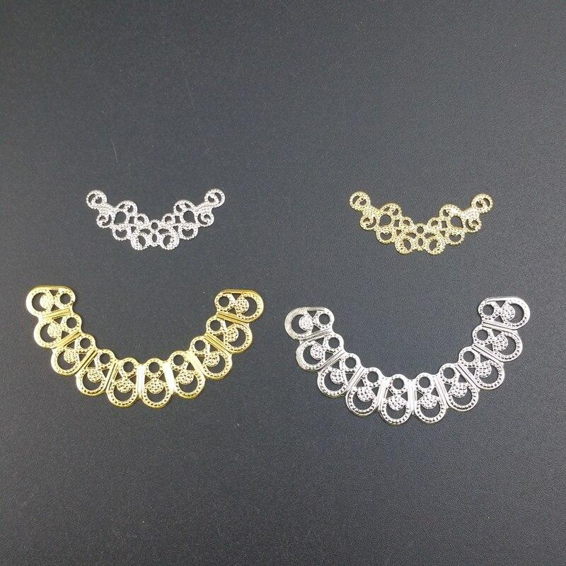 20Pcs Filigraan Arc Bloem Connectors Metalen Ambachten Geschenk Decoratie Ornament Accessoires
