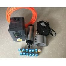 3KW ER20 CNC Water Cooled Spindle Motor + 3KW 220V frequency inverter + 100mm spindle clamp + 4m pump + pipe + ER20 collet