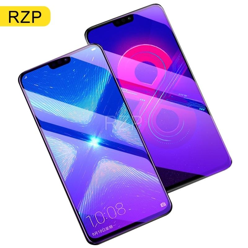 RZP 3PCS 9H templado de vidrio para Huawei Honor 8 8X 8C Protector de pantalla para Huawei Honor 8X8 C funda protectora película de vidrio