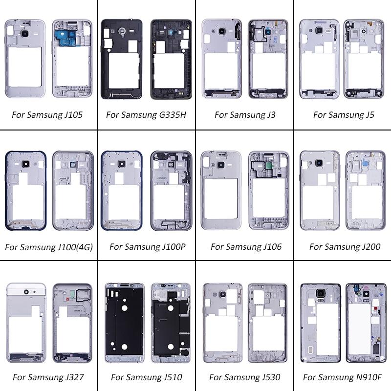 Netcosy-plaque de cadre moyen   Pour Samsung Galaxy J105 G355H J3 J5 J106 J200 pièces de réparation pour Samsung N910F