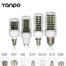 E26 E27 E12 E14 G9 GU10 led Dampoule De Maïs 4014 SMD Lumière 10W 20W 25W 30W Éclairage 36led s 72led s 96led s 138led s Ampoule led Projecteur