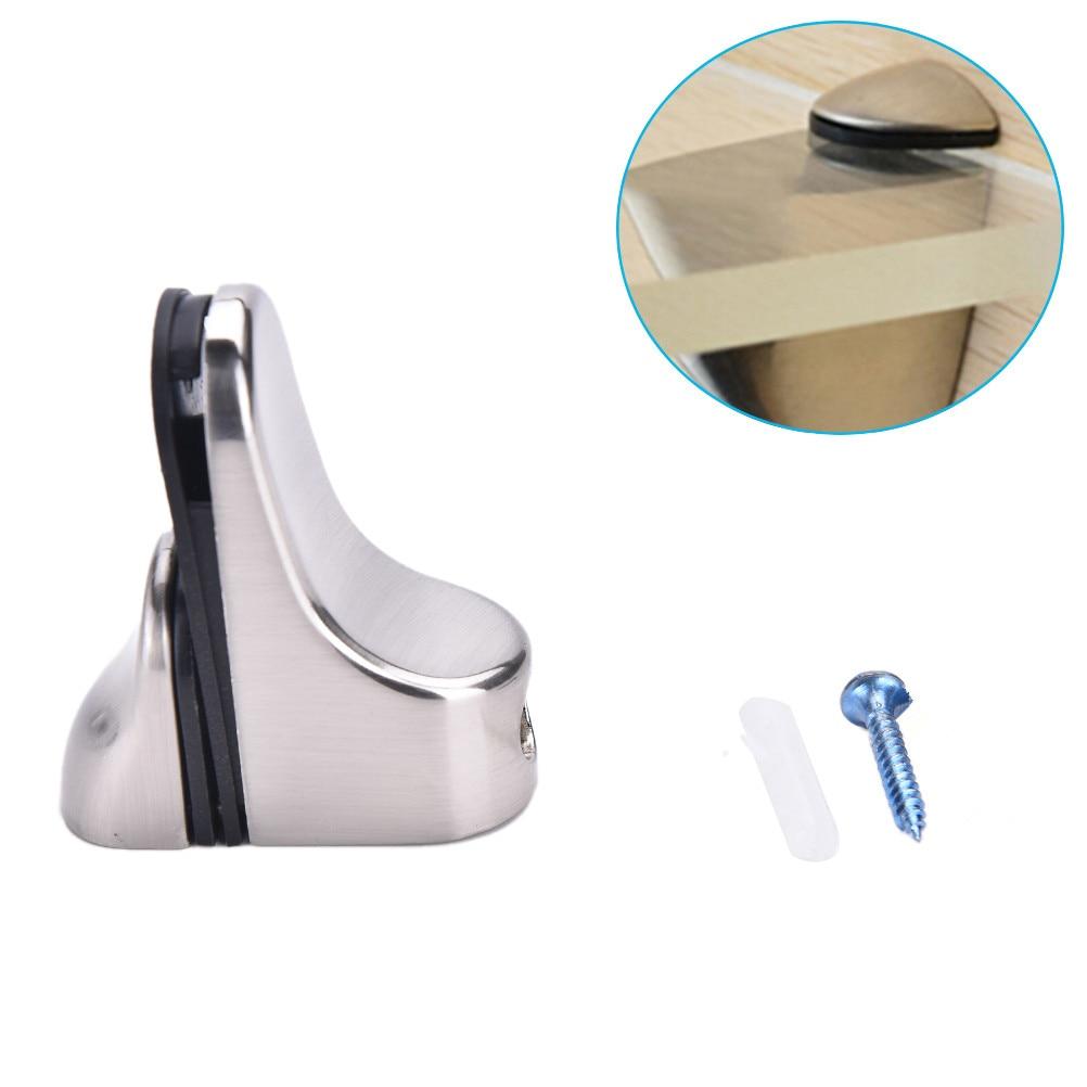 50mm X 24mm X 55mm Glass Plate Carrier Holder Support Clamp Polished Chrome Glass Shelf Metal Adjustable Bracket Brace Mount