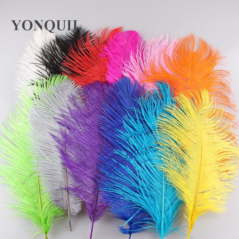"""8""""-10""""/20-25cm ostrich feathers plumage flapper dresses for wedding part decoration 12 color available 100pcs/lot"""