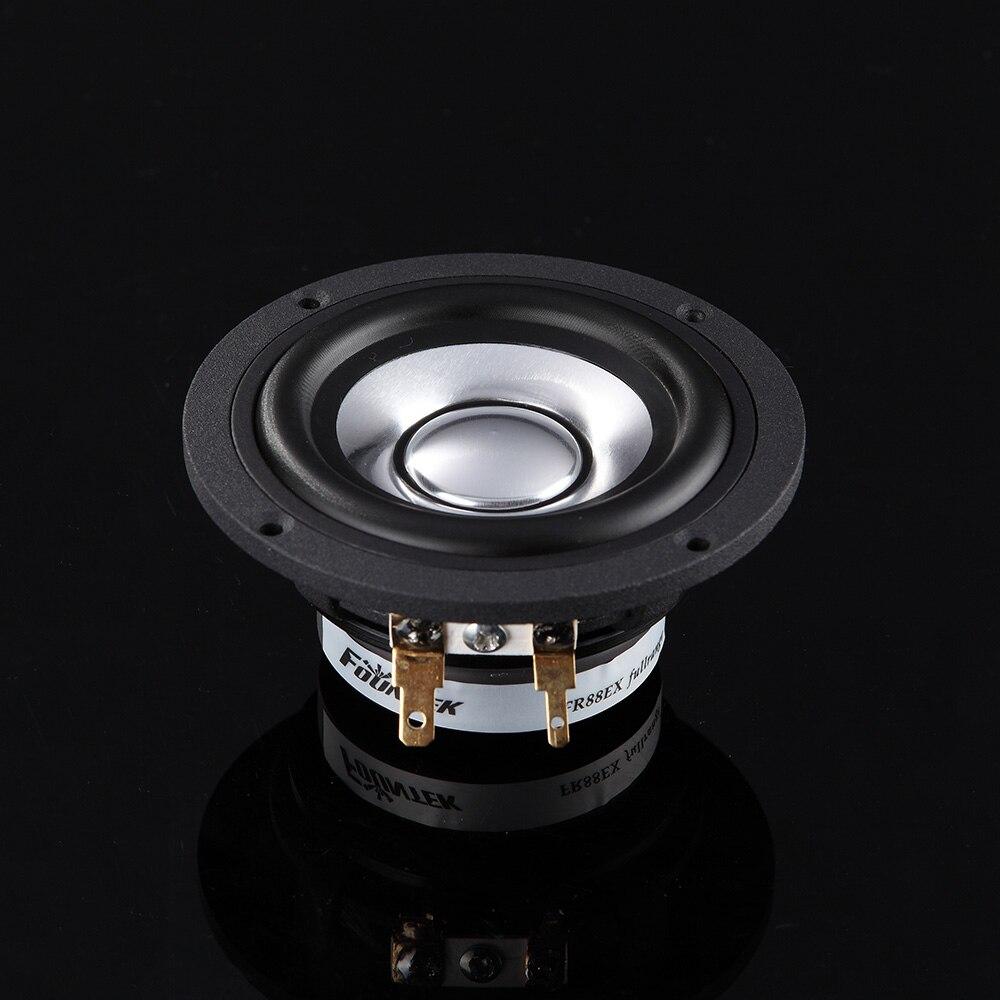 2 uds. Fountek Original FR88EX 3 ''altavoz de frecuencia completa conductor imán de neodimio fundición marco de aluminio/Cono 8ohm 15W D81mm