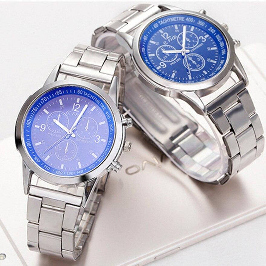 Топовый бренд, модные деловые повседневные часы, Роскошные мужские часы из нержавеющей стали, Высококачественные наручные часы, кварцевые ...