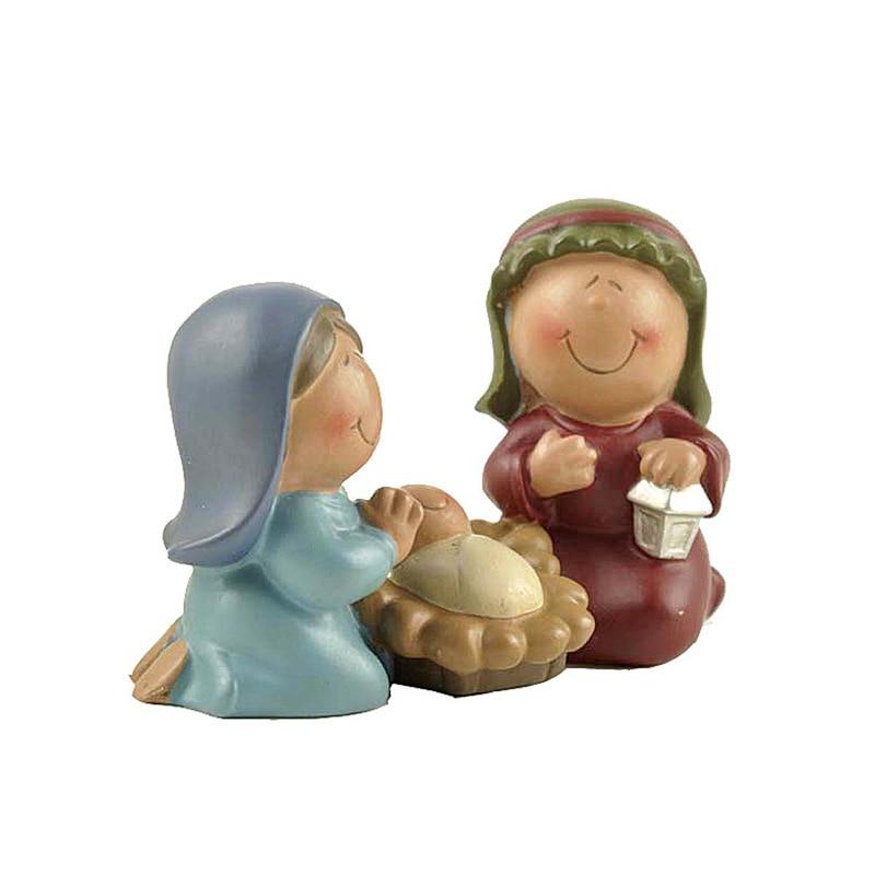 Polyresin Jesus Family Baby Born Nativity Set Statue Mary Miniatures Fugurines Orthodox Ark Covenant  Marie Joseph Church