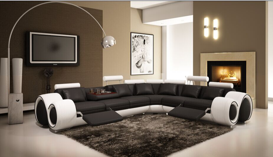 Conjunto de sofás para sala de estar con sofá de esquina reclinable