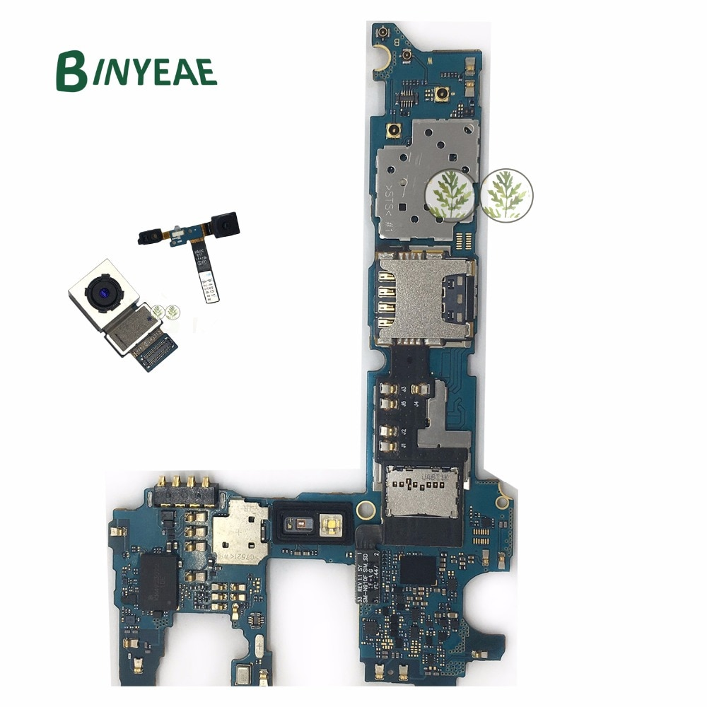 BINYEAE N910CQ desbloqueado placa base principal 32GB + cámara trasera + reemplazo de cámara frontal para Samsung Galaxy Note 4 N910C N910CQ