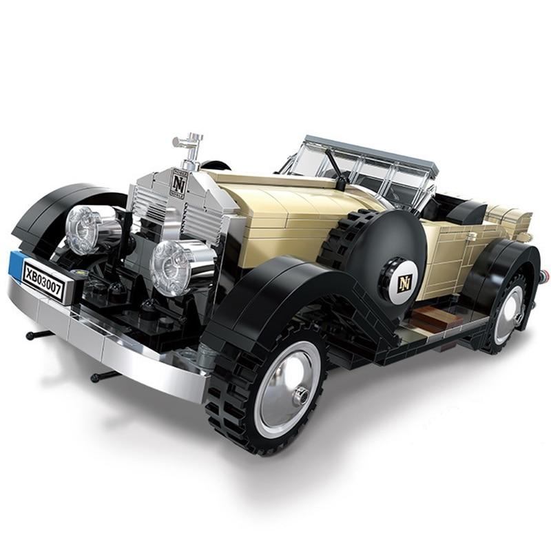 2019 idea creadora serie experto rollos-Royce coches convertibles bloques de construcción modelo técnico ladrillos clásicos para regalo de juguetes para niños