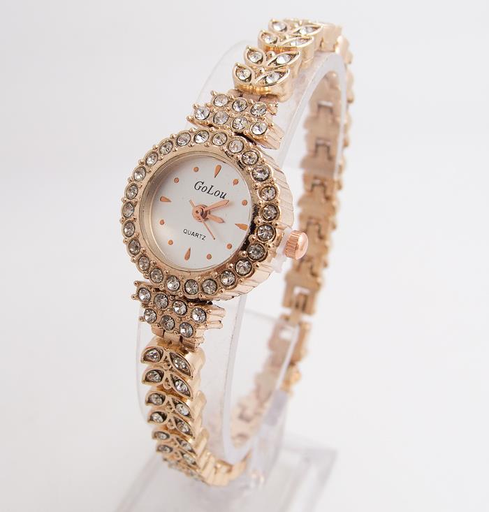Heiße Verkäufe Rose Gold Armband Uhren Frauen Damen Mode Glänzende Kristall Kleid Quarz Armbanduhr Strass Uhr G-022