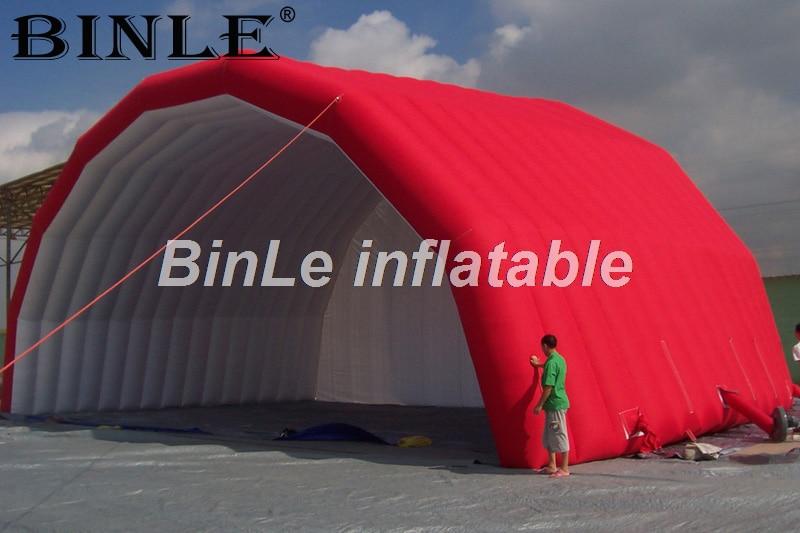 Rojo atractivo inflable de techo etapa tienda escenario inflable marquesina exterior refugio para la banda