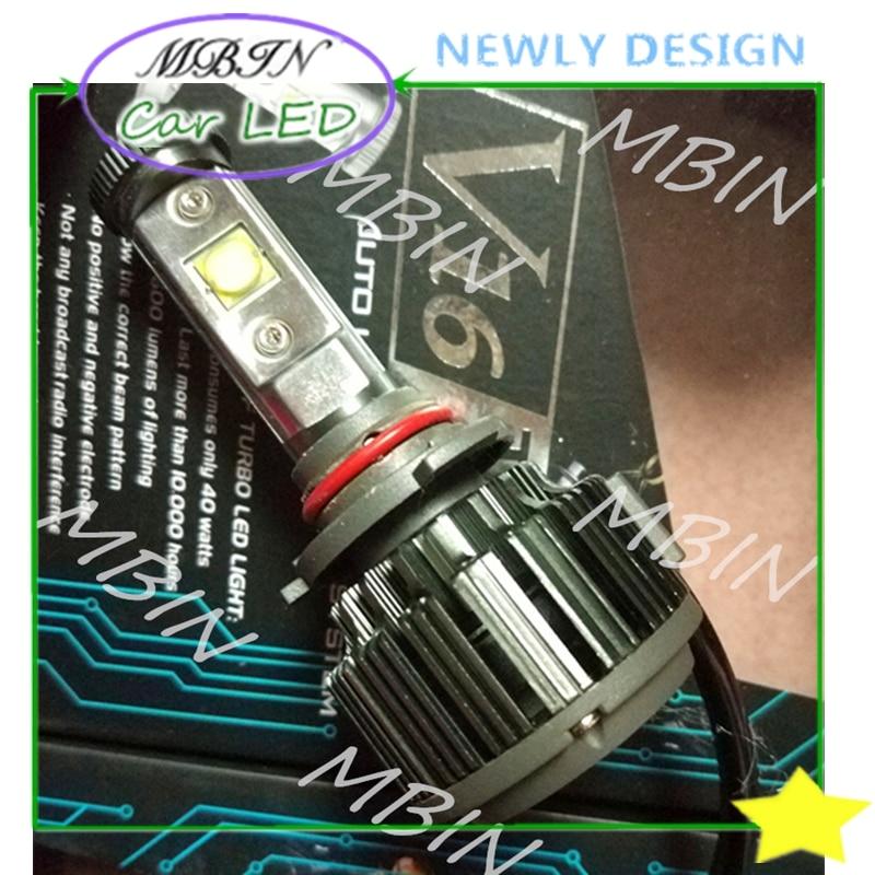 Kit MBIN 1 nuevo V16 turbo Car styling 9006 HB4 Cr -- luz LED 60W 7200lm blanco brillante faro niebla bombilla 6000K