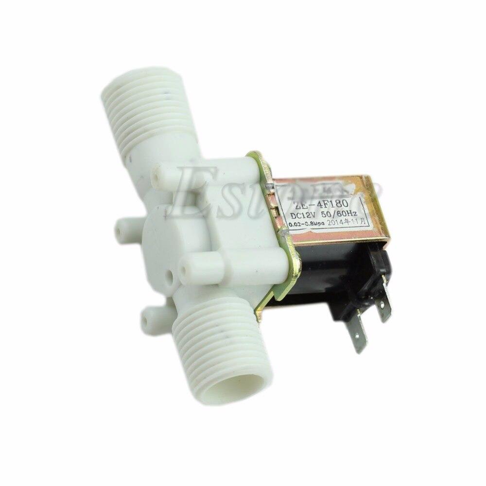 "Nova válvula solenóide elétrica magnética dc 12v n/c interruptor de fluxo entrada ar água 1/2"""