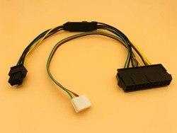 ATX основной 24Pin к 6Pin PCI-E PSU кабель адаптера питания 18AWG источник питания для HP Z220 Z230 SFF Серверная рабочая станция Материнская плата 30 см