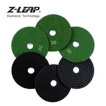 Z-LEAP 6 pçs 4 Polegada almofadas de polimento diamante grit #30 roda moagem concreto mármore granito pedra lixar disco polimento roda