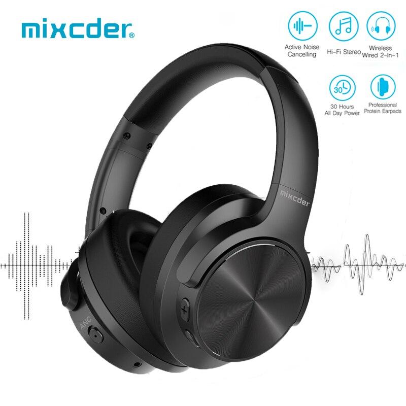 Mixcder E9 Bluetooth наушники ANC активное шумоподавление Беспроводные наушники с микрофоном над ухом HiFi глубокий бас для ТВ