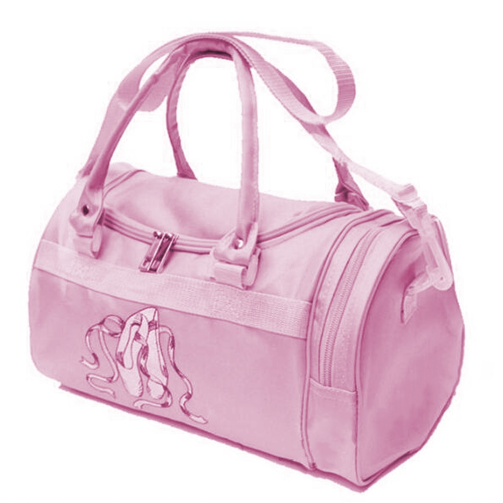 Shoulder Ballet Dance Bags Pink Girls Sports Bag Rucksack Embroidered For Child