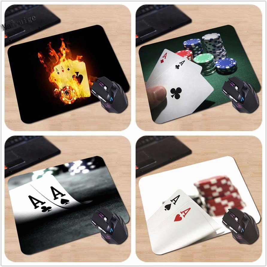 Mairuig Nach Rechteck Personalisierte Gaming Custom maus pad Poker Karten Schwarz notebook computer 250x290x2mm Feuer