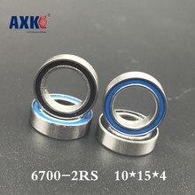 10pcs/lot 6700-2rs 6700 6700rs 6700-2rz Chrome Steel Bearing Gcr15 Deep Groove Ball Bearing 10x15x4mm