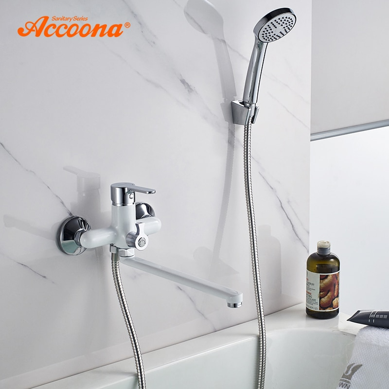Accoona Bathroom Bathtub Faucet Shower Faucet Set Mixer Wall Mounted Waterfall Bathtub Faucet with H