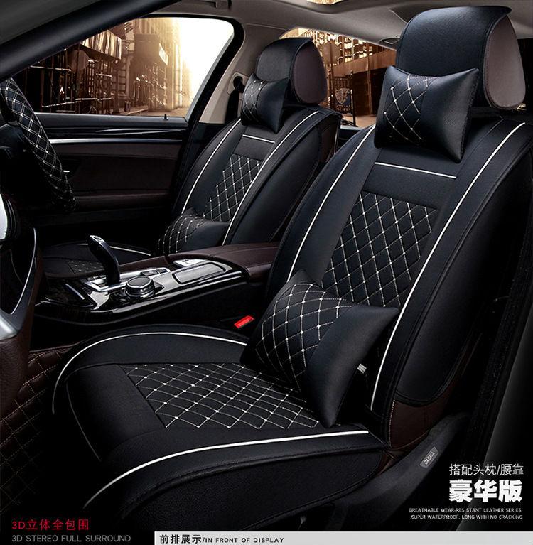 Juego de cojines para automóvil, fundas para asiento de coche, alfombrilla interior pu para Agila Vectra Zafira Astra GTC PAGANI ZONDA SAAB Spyker RAM HUMMER