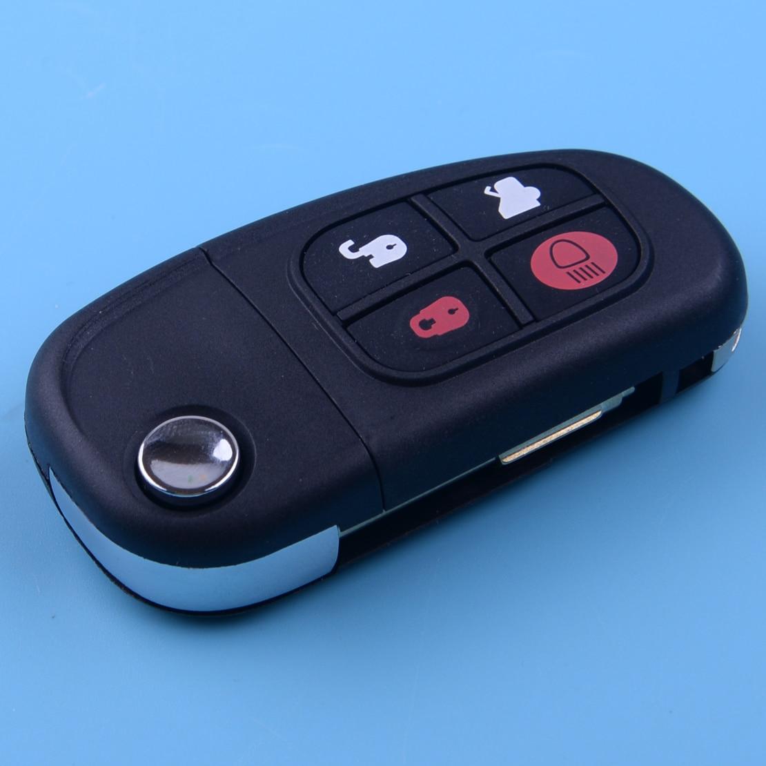 DWCX Keyless Entry Remote Key Fob Flip Uncut Fit for Jaguar X-type S-type XJ8 2001 2002 2003 2004 2005 2006 2007 2008