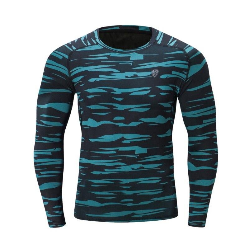 FANNAI 2018, camisetas de manga larga transpirables de secado rápido para deportes al aire libre de alta calidad para hombres, ropa de Culturismo