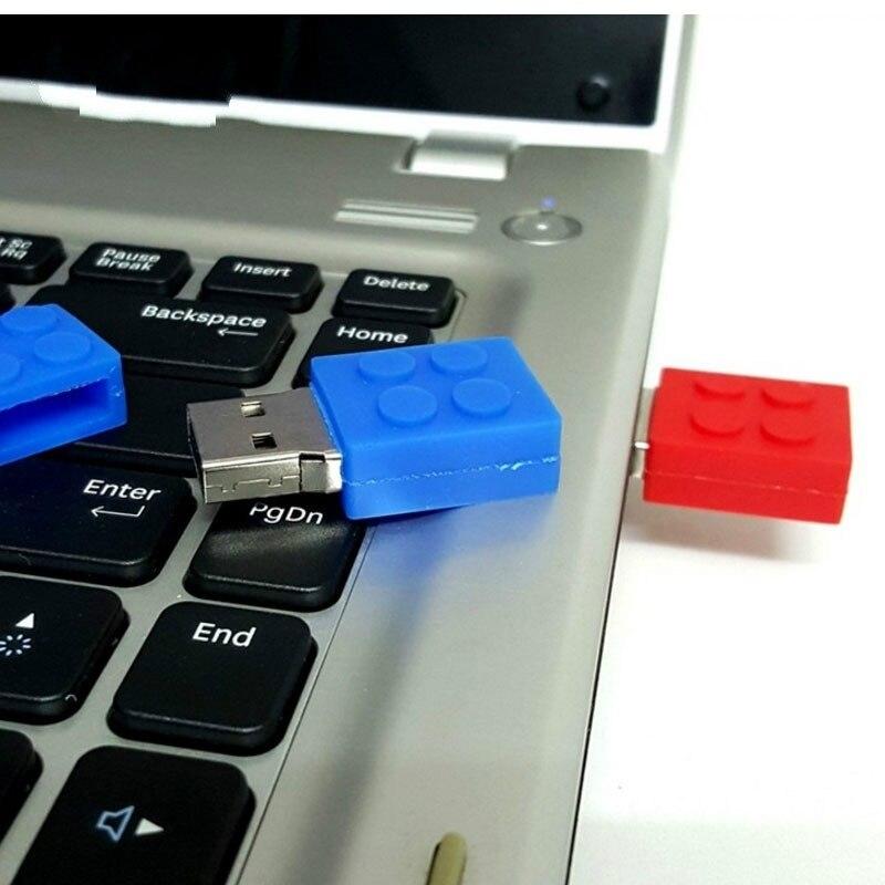 Unidad flash USB, regalo gratuito, bloques de construcción de plástico, unidad de memoria pendrive mini, unidad de lápiz U, Unidad de regalo de ladrillo colorido