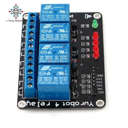 Módulo de canal de relé 5V 4 para Arduino, tablero de Control de relé optoacoplador de 4 canales, interruptor inteligente doméstico con indicador LED
