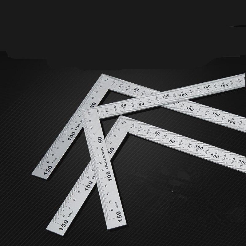 1pcs Stainless Steel Angle Square Broadside Knife-Shaped 90 Degree Angle Blade Ruler Gauge Blade Measuring Tool 150 x 300mm angle square broadside knife shaped 90 degree angle blade ruler gauge blade measuring tool