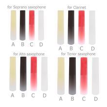 Resina saxofone plástico sax reed woodwind instrumento peças acessórios clarinete/soprano/alto/tenor sax 4 cores