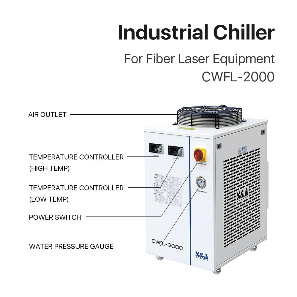 Water Chiller Machines CWFL-2000 For Cooling 2000W Fiber Lasers Cutting Machine enlarge