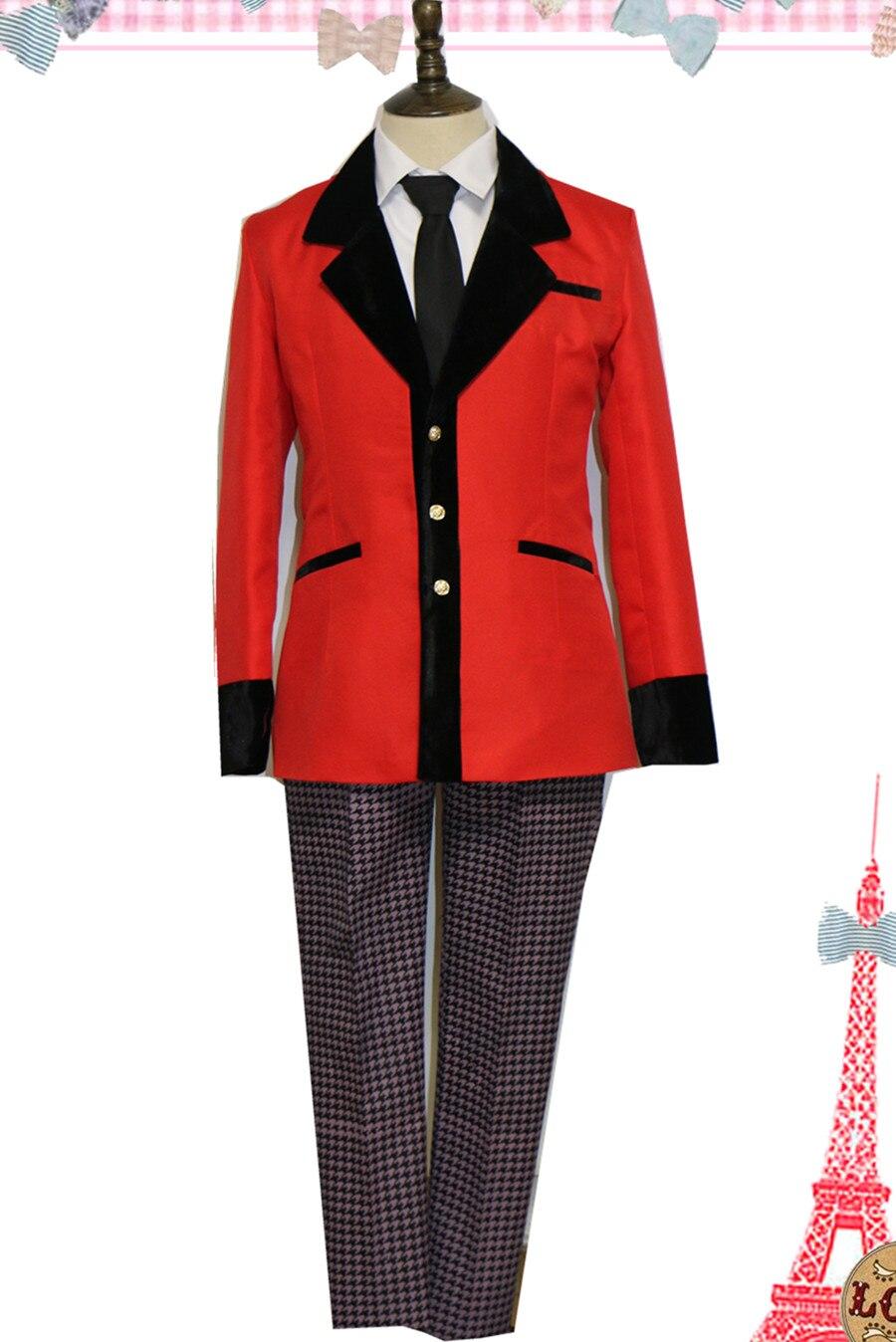Kakegurui Ryota Suzui Kaede Manyuda negro uniforme rojo Cosplay traje X006
