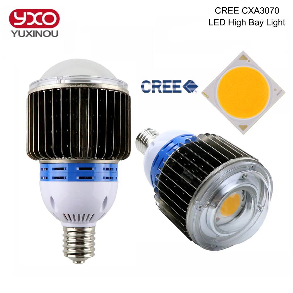 1 Uds CREE CXA3070 50W 60W 100W COB bombilla LED E27 E40 Base 3000K 5000K CREE lámpara de luz LED para supermercado fábrica almacén
