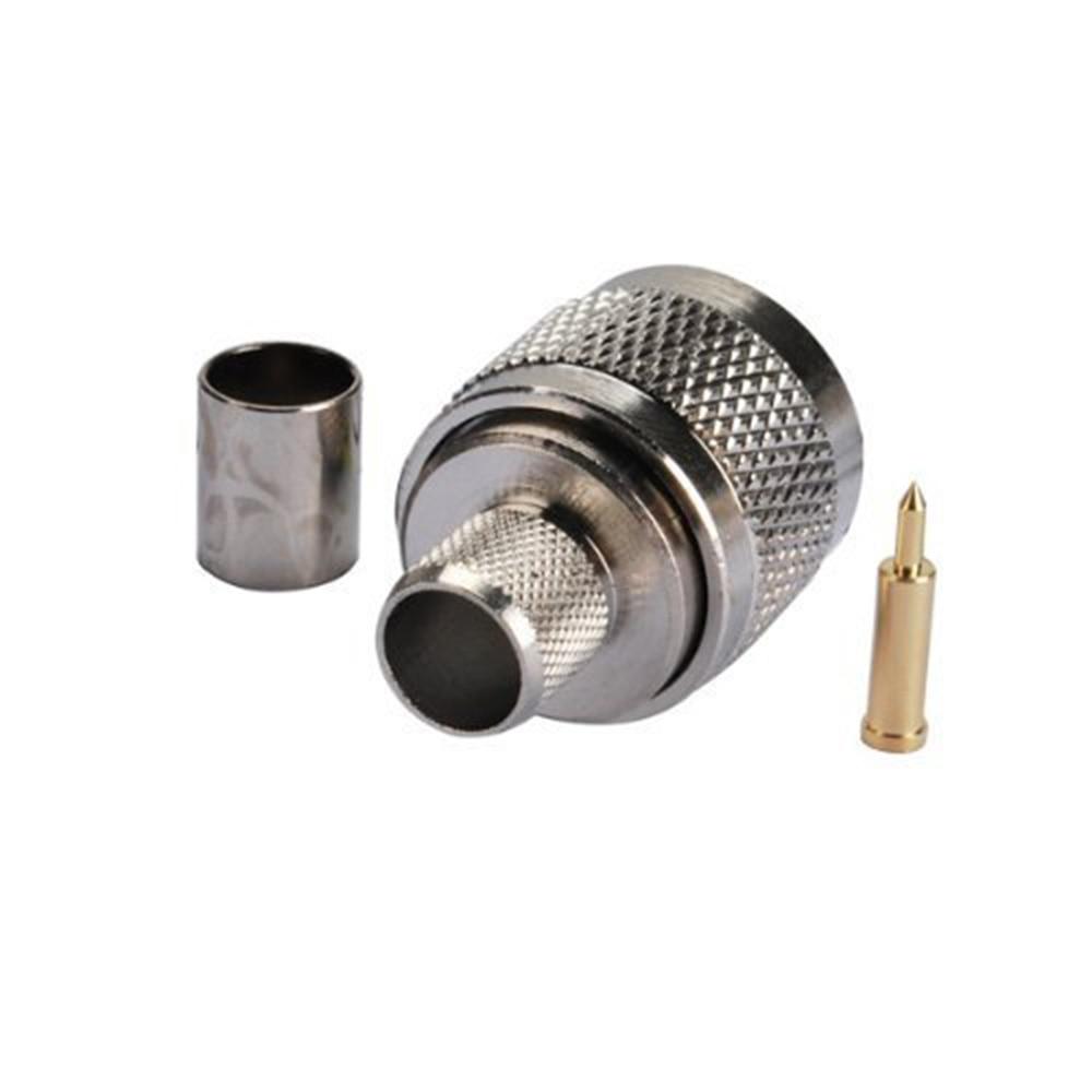 Conector adaptador coaxial ALLiSHOP 10 Uds tipo N macho RF RG58 RG142 LMR195 RG400 conector de Cable coaxial