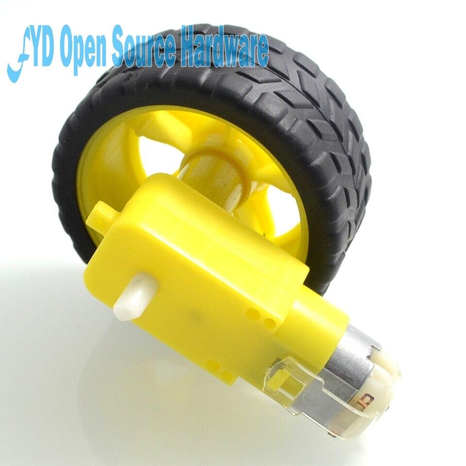 1set Deceleration DC Motor + Supporting Wheels/ Smart Car Chassis Motor/Robot Car Wheels