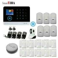 SmartYIBA-tablette tactile RFID sans fil   Wifi GSM  securite anti-intrusion  pour maison et bureau  camera IP video  detecteur de fumee