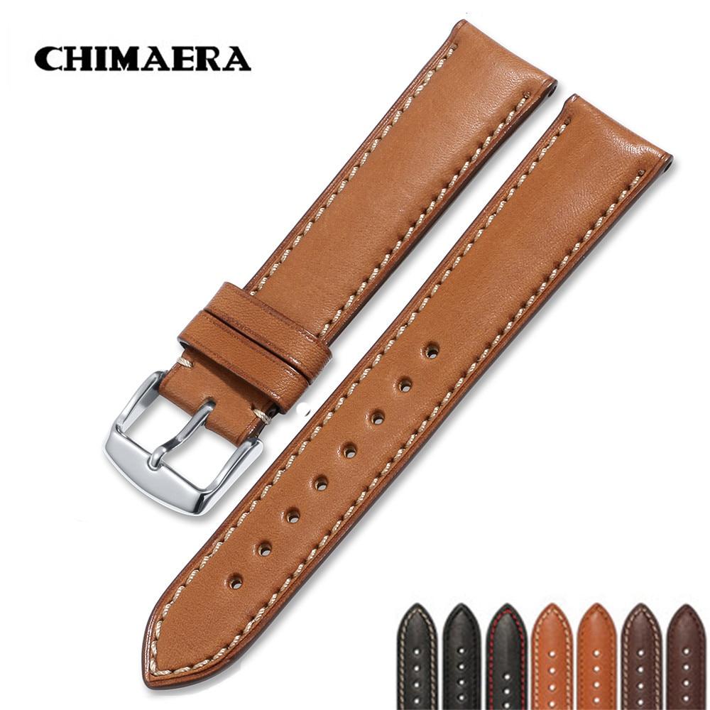 Chimaera Cinturini Nero Marrone Caffè 18 Mm a 22 Millimetri Genuine Leather Watch Strap Argento Spille Fibbia per Tissot
