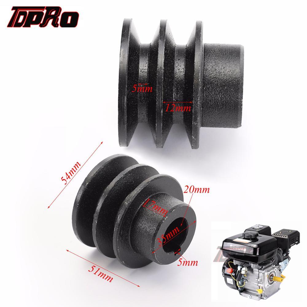 TDPRO 35mm OD 20mm ID V Belt Pulley Bore Die Double Groove For Honda 168F 170F GX110 GX120 GX160 GX200 7HP ATV Go Kart Engines